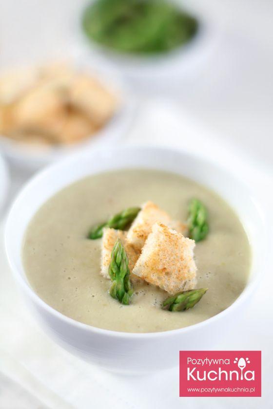 #Zupa krem ze szparagów - #przepis na pyszną zupę kremową ze szparagami  http://pozytywnakuchnia.pl/krem-ze-szparagow/  #obiad #kuchnia #szparagi