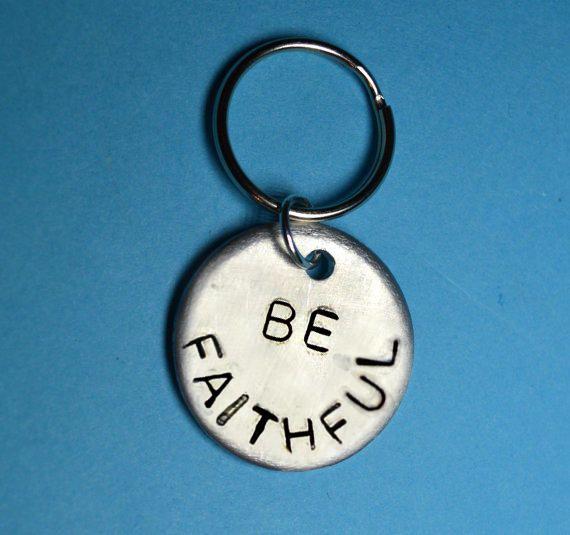 Godmother gift, Godson gift, Christening gift, Be Faithful, Goddaughter gift, Gift for godmother, for godson, gift for goddaughter,christian by BeesHandStampedGifts on Etsy