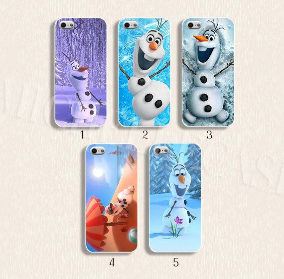 Disney phone case Disney frozen phone case Disney Olaf case for  iPhone 4/4s 5/5s Galaxy s3 s4 s5 Hard plastic and soft Rubber on Etsy, $9.99