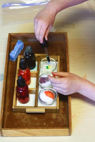 four montessori color mixing lessons | montessori works