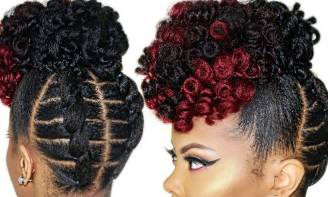 This Braid Less Crochet High Puff On 4c Natural Hair Might Just Turn Out To Be Your Favorite Also African American Hairstyle Videos Aahv Natural Hair Updo Natural Hair Styles