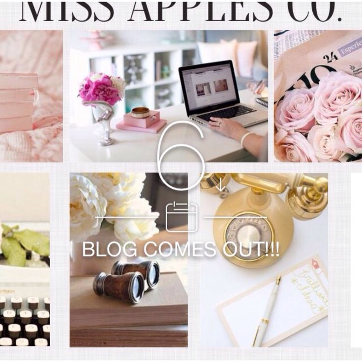 6 days until Miss Apples Co blog comes out.  Check out my website at michelleapples.co