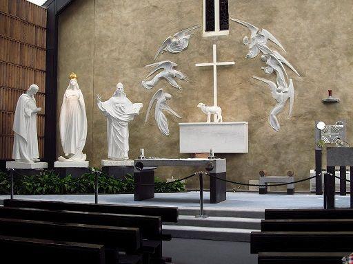Les apparitions mariales Knock - Intérieur de la Basilique
