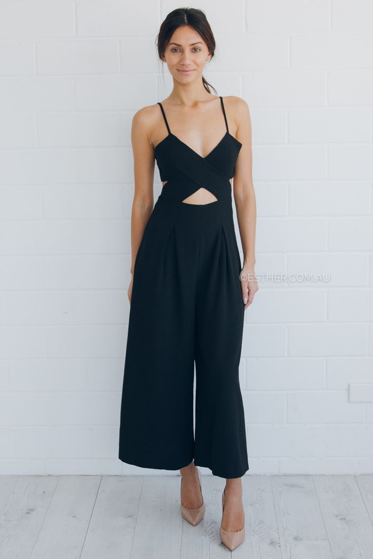 99518eadd84 zara jumpsuit - black