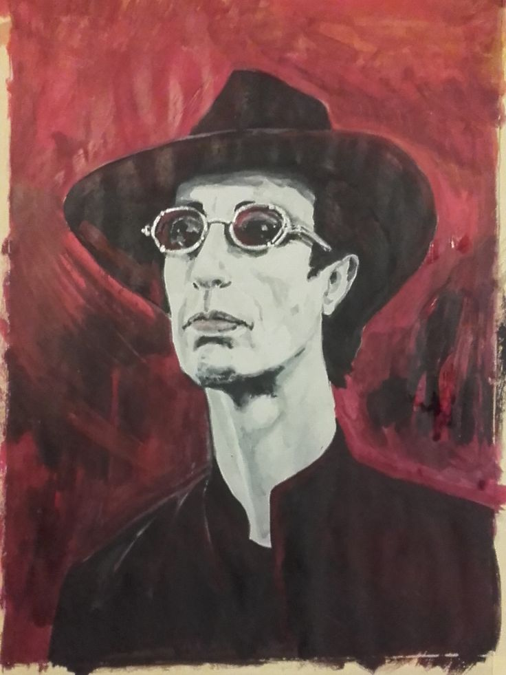"Robin Gibb ""Steampunk colour2"" Acrylics on paper 2016"