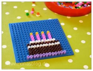Geburtstagskarte aus Bügelperlen
