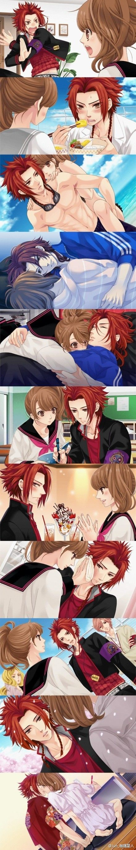 Brothers conflict- Yuusuke is my favourite! You know: has a secret crush on her. very adorable :3