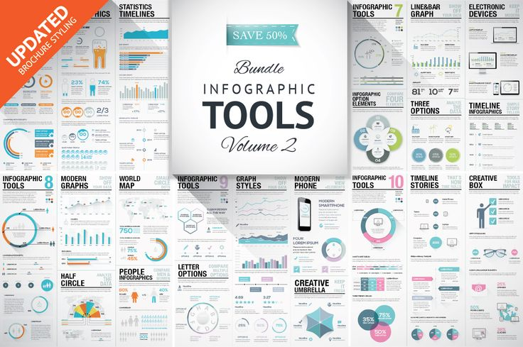 45%OFF Infographic Elements Bundle 2 by Infographic Template Shop on…