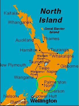 It's in the North Island near the bottom!