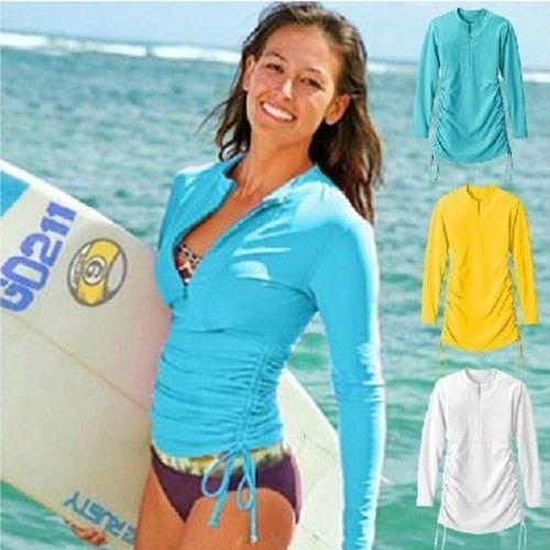 Rash Guard Swim Shirts For Women