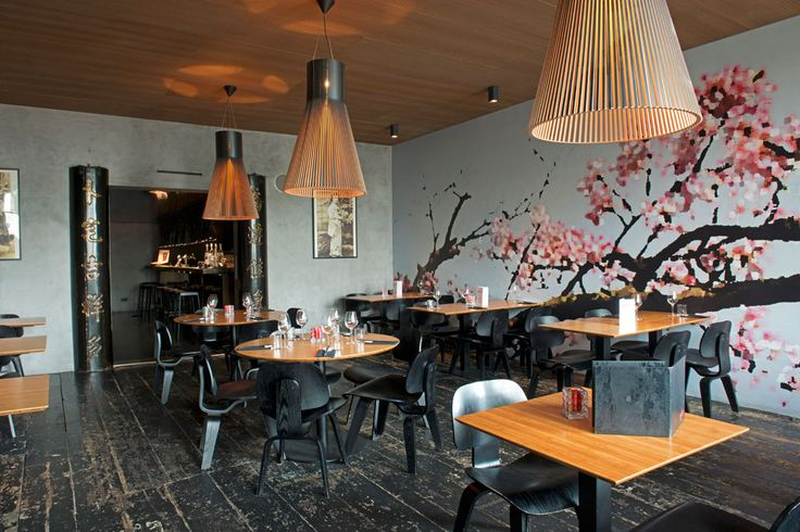 Magnum 4202 pendants by Secto Design decorating the Restaurant Geisha in Amsterdam, The Netherlands.