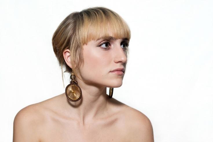 Sutasz-Anka: African Sun- earrings  Model: Alicja Łukasiak  Photo: Weronika Sadlik