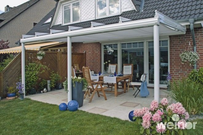 Weinor Terrazza glass roof veranda system from Samson Awnings & Terrace Covers