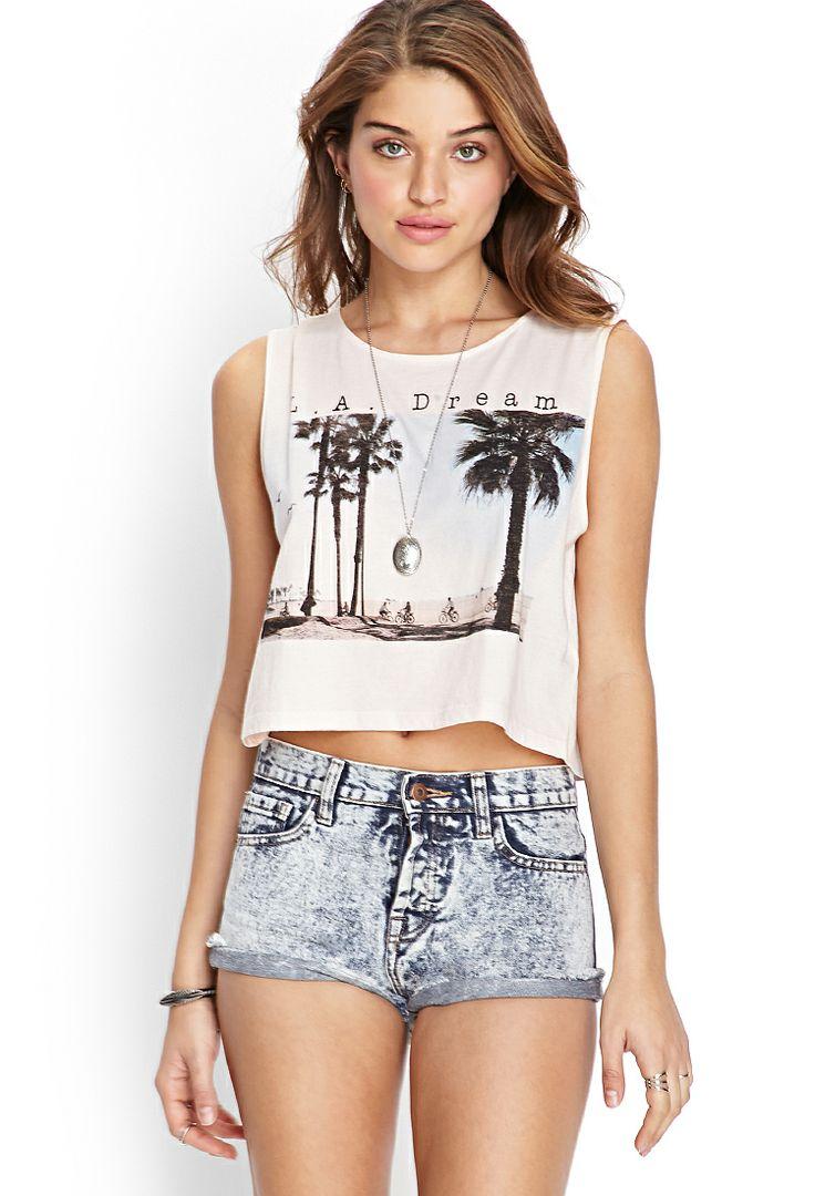 LA Dream Tulip Tank | FOREVER21 #SummerForever #GraphicTee