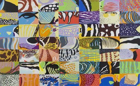 Robyn Gordon 'Reef Fish Magic' - screenprint on paper