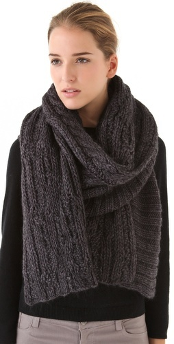 Chunky Cable Scarf, i think i need one of these!