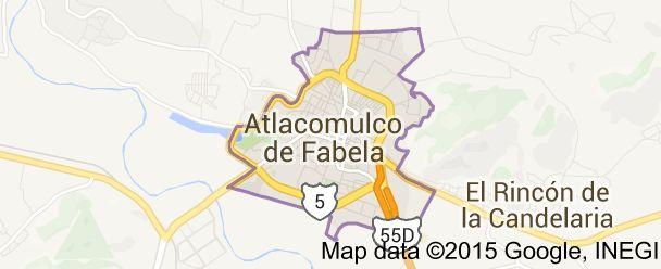 Map of atlacomulco de fabela