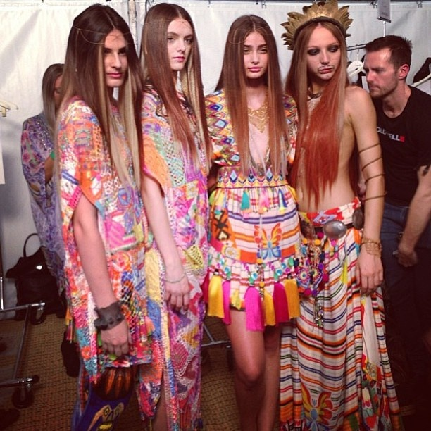 backstage angels in Maripossa jewellery & Camilla clothing