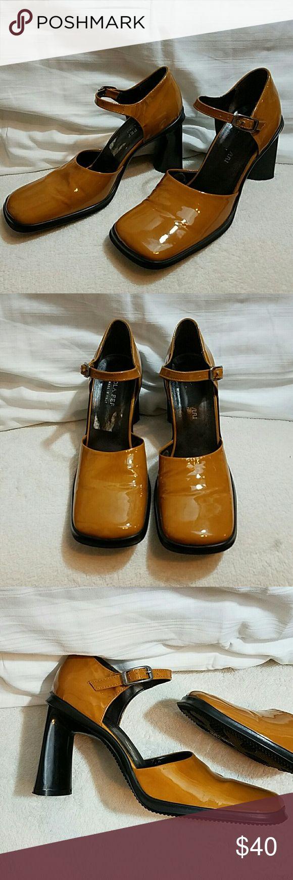 PAOLA FERRI Italian Leather Upper Heels PAOLA FERRI Italian Leather Upper Heels with ankle strap. Made in Italy.   Size 9 US, 39 Euro Paoli Ferri Shoes