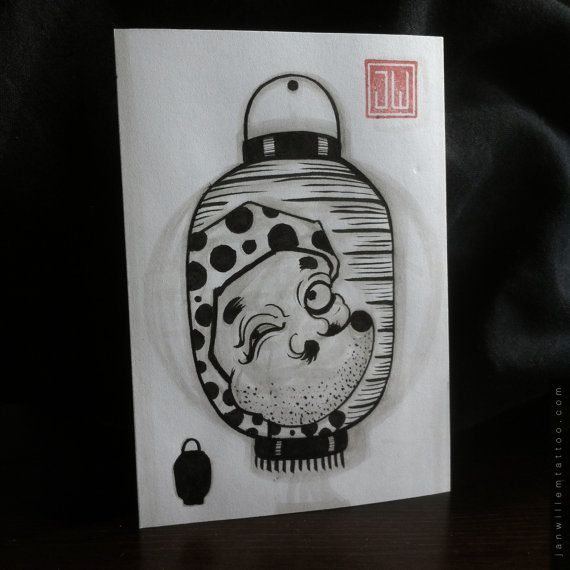 Hyottoko lantern by Janwillemtattoo on Etsy