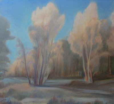 Наталья Холодовская (р. 1928) Розовые деревья. 2005