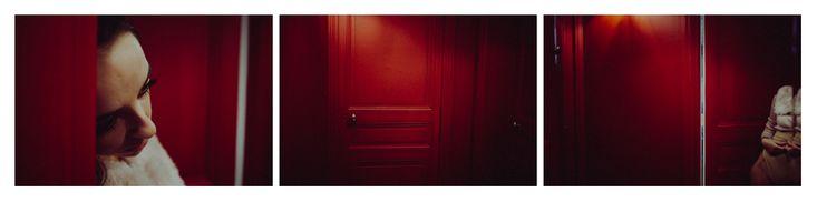 fanfan - red mirror triptych by Tom Spianti