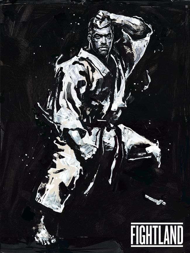 rugged artwork of lyoto machida if you love mma youll love