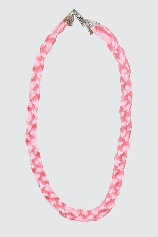Braid Pink Necklace
