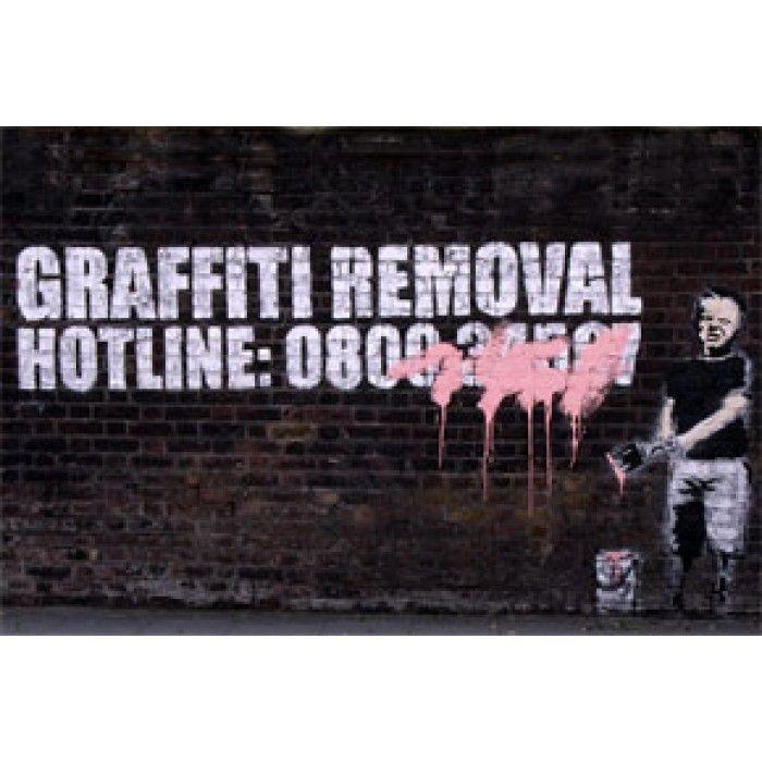 The Banksy Shop - Banksy Canvas Print - Graffiti Removal, £29.95 (http://www.thebanksyshop.co.uk/banksy-canvas-print-graffiti-removal/)