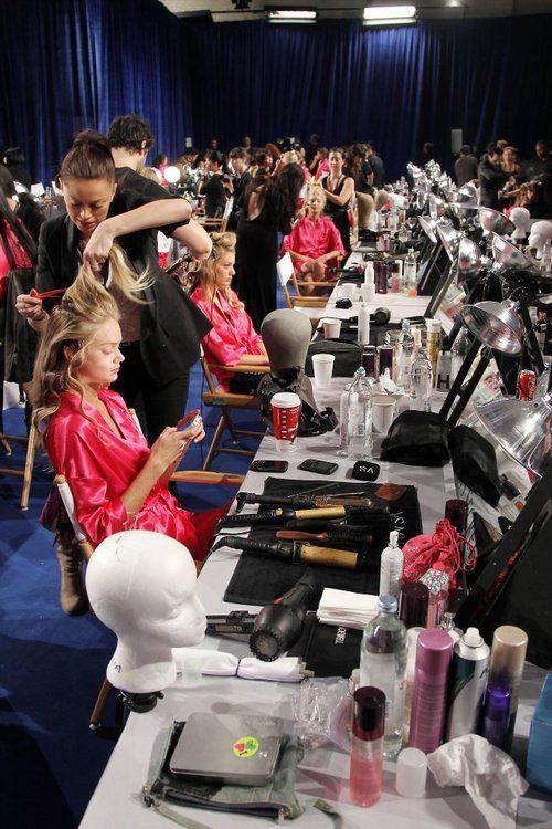 Behind the scenes Victoria's Secret Fashion Show.