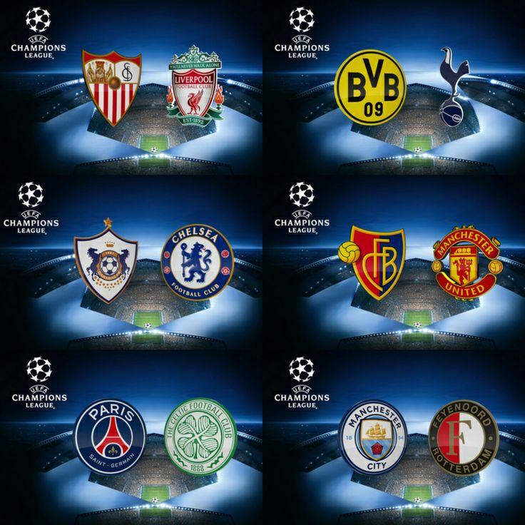 Watch Live UEFA Champions League Football: Including Sevilla v Liverpool, Borussia Dortmund v Tottenham, Manchester City v Feyenoord, Basel v Manchester United, Paris Saint-Germain v Celtic & Q…