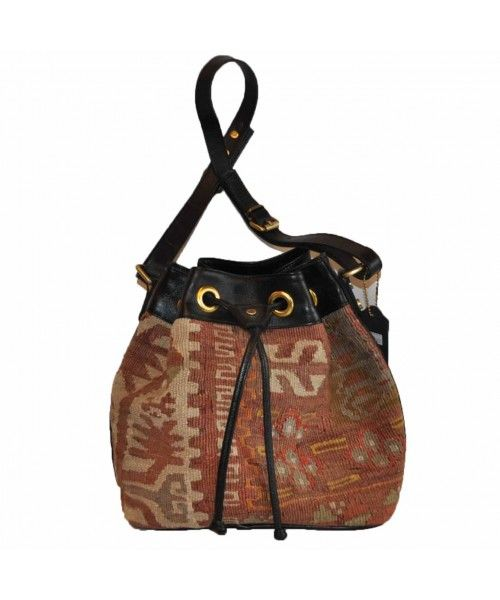 "Turkish Vintage Kilim Bag-b:16 B:16 Size: W: 11"" H: 10"" D: 6"" Drop Length: 14""-Design# 305, Size- - [1] #handmade #handbag #bag #purse #accessories #fashion #womenfashion #outfit"