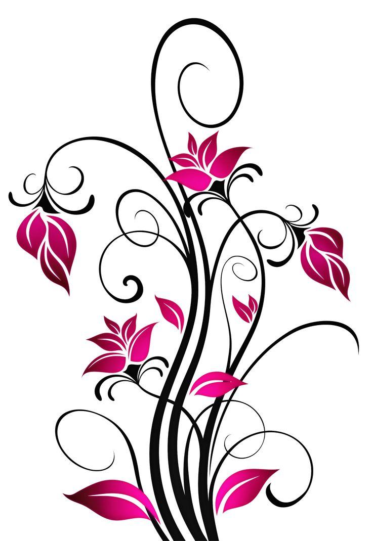 Beautiful Scrolling Flowers Cross Pattern