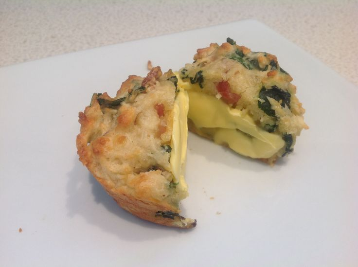 Bacon Spinach and Cheese Muffin