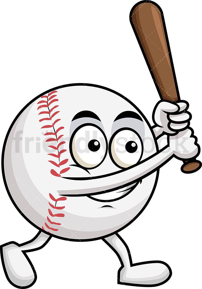 Baseball Cartoon Swinging Baseball Bat Clipart Friendlystock In 2020 Baseball Drawings Cartoon Clip Art Baseball Bat