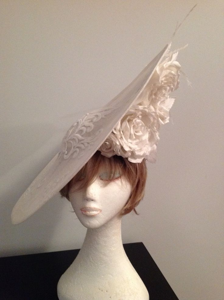 Elegant Handmade with silk roses and lace