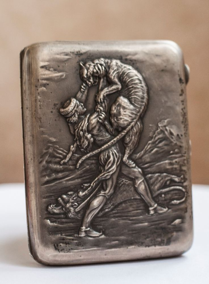 RRR Soviet silver cigarette case, 875 sample, 174 grams. #SovietUSSRSilver