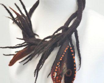 Felted flower brooch Bordo dahlia pin jewelry by DosethHandmade