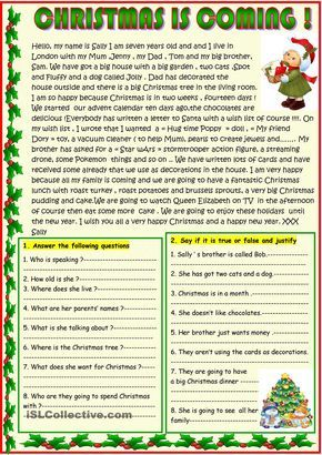 Christmas is coming ; basic reading with a poem on the 2nd page