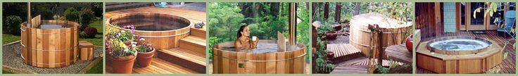 Wood Heated Hot Tubs. What happens if they freeze? Have to check that out.