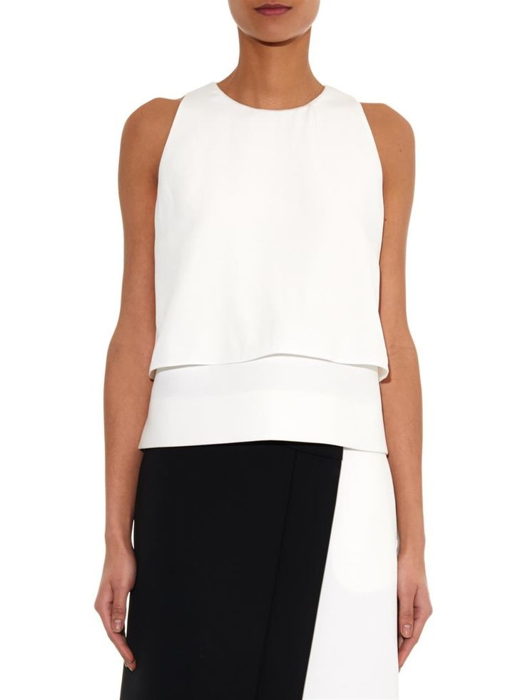 Fendi Double-layer crepe top