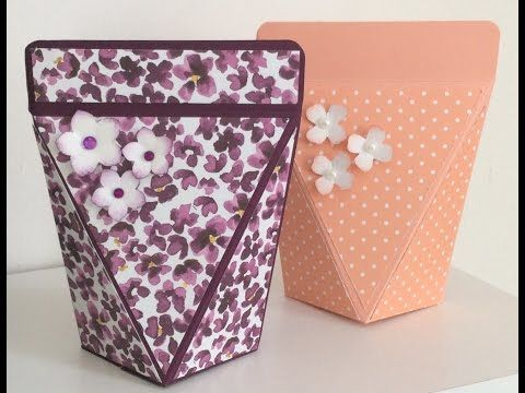 Stampin Up How To Make A Squeeze Top Gift Box - YouTube