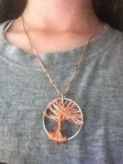 I made this cool copper necklace tree that is really easy to make!