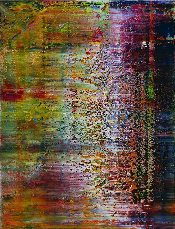 Gerhard Richter, Artist, Cracked Smile, oil on canvas