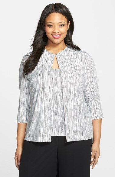 Alex Evenings Foiled Print Twinset (Plus Size) available at #Nordstrom