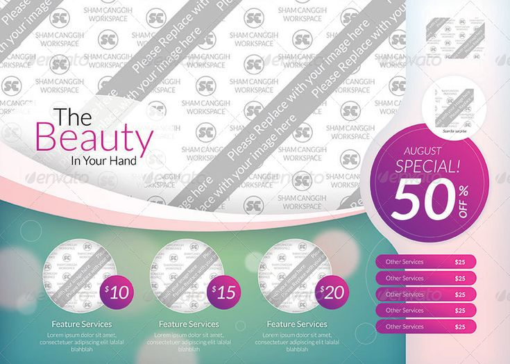 68 best spa images on Pinterest Brochures, Graph design and - sample spa menu template