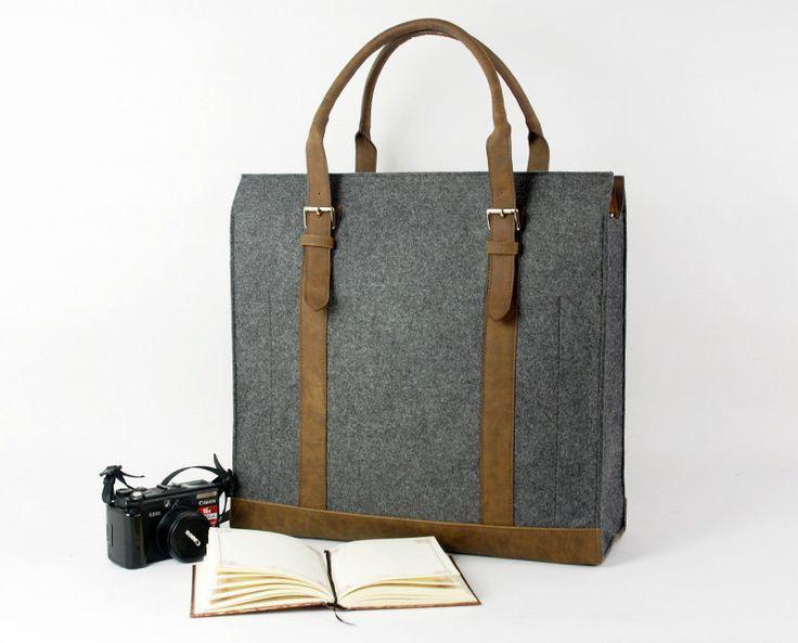 Felt Duffle Bag Gym Bag Travel Bag Tote Bag Over Nite Bag Holdall Bag Duffel Bag Handbag Shoulder Bag E1459 by Filzkraft on Etsy https://www.etsy.com/listing/126275593/felt-duffle-bag-gym-bag-travel-bag-tote