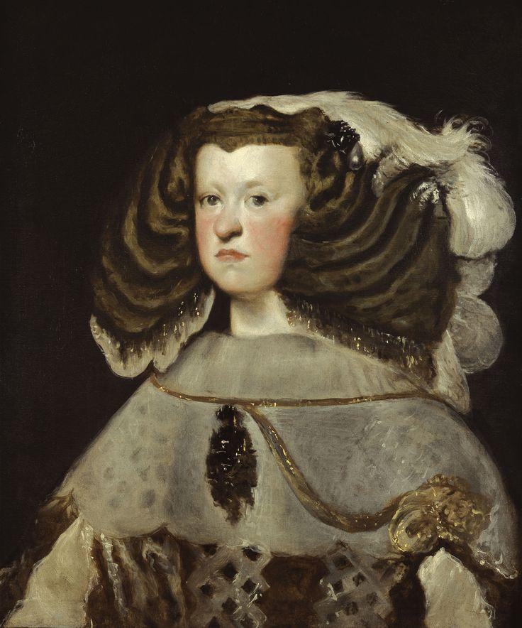 Velázquez, Retrato de doña Mariana de Austria, reina de España (1655-57, Museo Thyssen, Madrid)