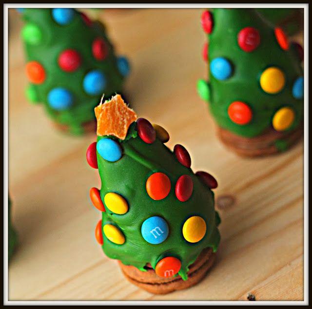 sapins de Noël en truffes Oréo