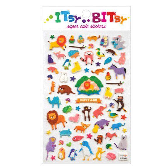 Itsy Bitsy Stickers, Happy Zoo